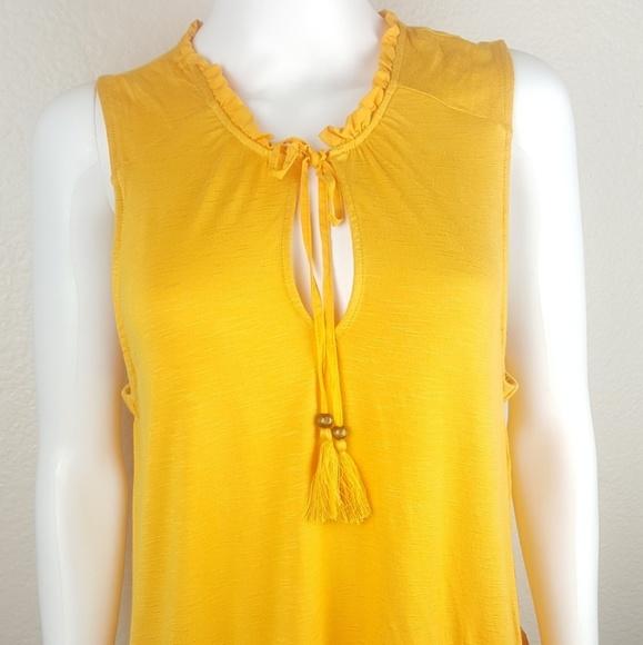 Wit & Wisdom Women's Large Yellow Blouse Tassel